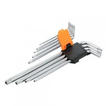 Набор удлиненных ключей Torx T10 - T50 Tolsen