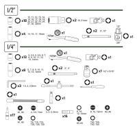 Set capete chei tubulare 94 piese cromate JBM 53011_1