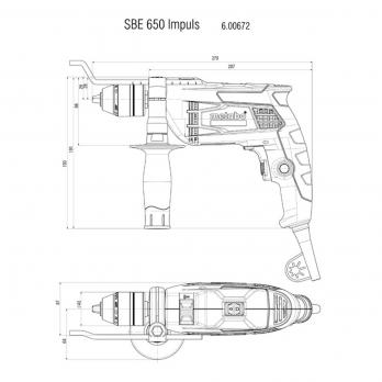 Masina de gaurit cu percutie SBE 650 IMPULS Metabo
