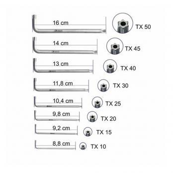 Набор шестигранных ключей TX 8шт S&R