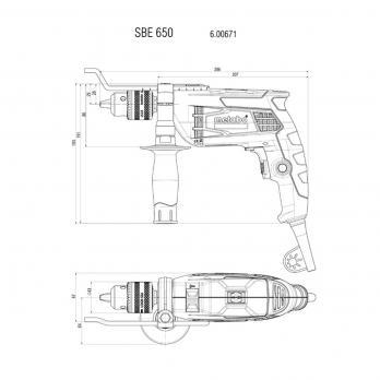 Дрель ударная SBE 650 Metabo