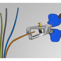 Cleste pentru dezizolat cablu 160 mm 478/1BI Unior_1