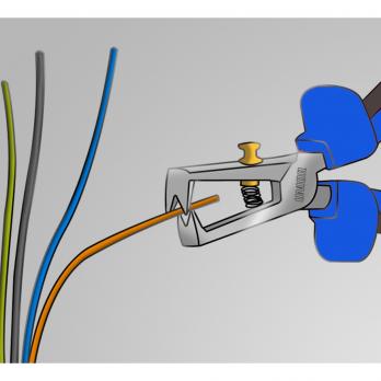 Cleste pentru dezizolat cablu 160 mm 478/1BI Unior