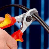 Foarfece pentru taiat cablu dielectric 165 mm Knipex_4