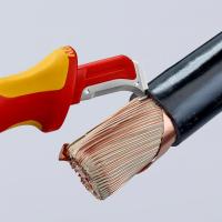 Cutit dezizolator cablu dielectric 180 mm Knipex_5