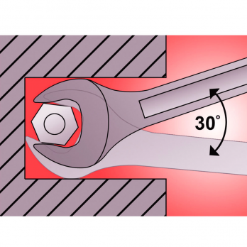 Cheie fixa dubla 6x7 mm 7110/2 Kronus