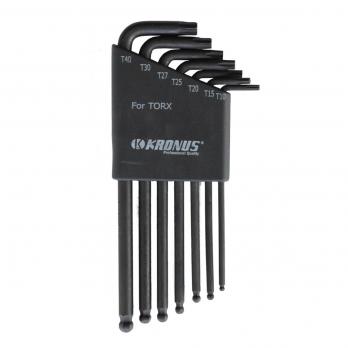 Набор ключей TORX удлиненных TX10-TX40, 7 шт. Kronus