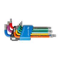 Набор ключей TORX Т10-Т50 с цветной маркировкой Hoegert